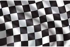 Vector background of checkered flag