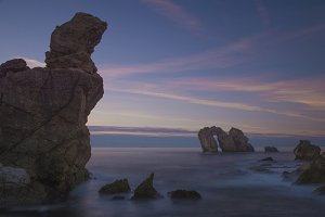 seascape sunset, Cantabria, Spain