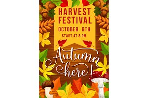 Fall festival and autumn harvest