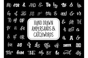 Vector ampersands and catchwords