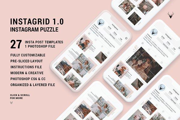 Instagram Templates - InstaGrid 1.0 - Instagram Puzzle
