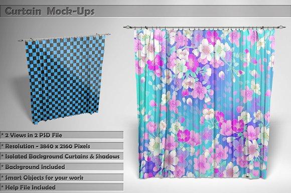Free Curtain Mockups