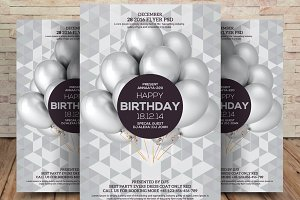 Happy Birthday Party Flyer