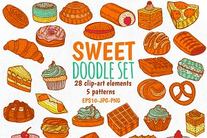 Sweet Doodles graphic clipart set