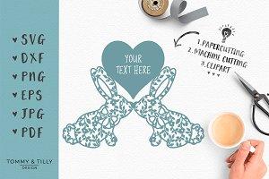 Bunny Couple - Wedding SVG & Clipart