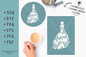 Butterfly Bride No.1 - Wedding SVG