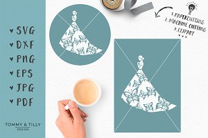 Butterfly Bride No.2 - Wedding SVG