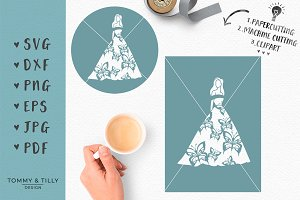 Butterfly Bride No.3 - Wedding SVG