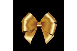 Shiny golden satin ribbon