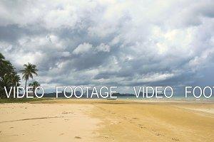 Beautiful beach on tropical island.