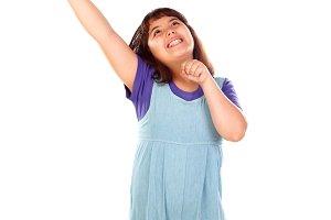 Winner girl celebrating something an