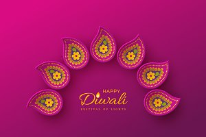 Diwali festival holiday design.