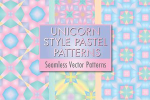 Unicorn Style Pastel Patterns