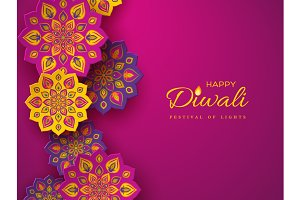 Diwali festival holiday design