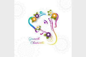 Design for Ganesh Chaturthi festival