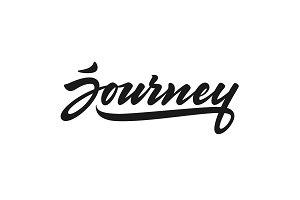 Journey vector lettering