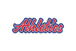 Athletics vector lettering
