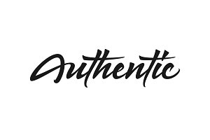 Authentic vector lettering