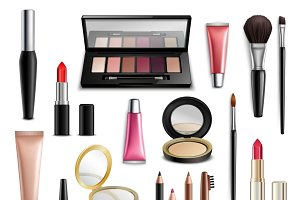 Makeup accessories realistic items