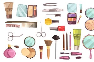 Set of decorative cosmetics