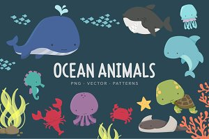 Ocean Animals & Patterns
