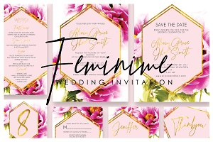 Feminime Wedding Invitation Ac.43