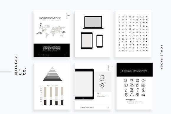 Ebook Template PowerPoint Magazine Templates Creative Market