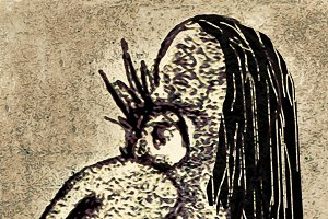 Ugly Monster Side View Portrait