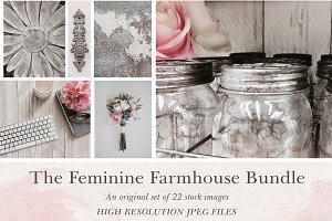 Feminine Farmhouse Stock Photography