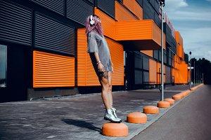Beauty woman portrait concept art
