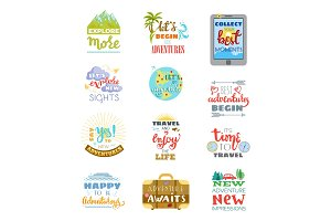 Traveling lettering vector adventure