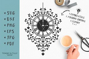 Clock - Wedding SVG & Clipart