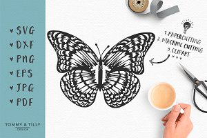 Delicate Butterfly - Wedding SVG