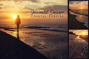 Minimalist Seascape. Coastal Sunrise