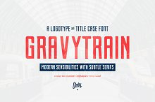 Gravytrain - A Display Font by  in Display Fonts