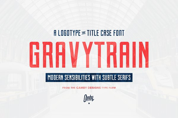 Display Fonts: Camby Designs - Gravytrain - A Display Font