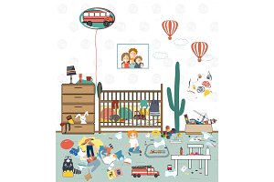 Messy kids room