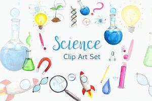 Science Time Clip Art Set