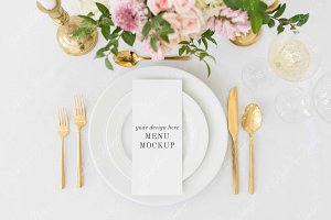 Wedding Menu Mockup | PSD + JPEG