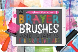 Procreate Brayer Brushes and Stamps