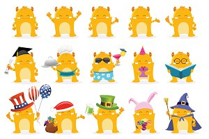 Cute Monster Character Package