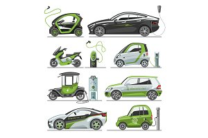 Electric vector car with solar
