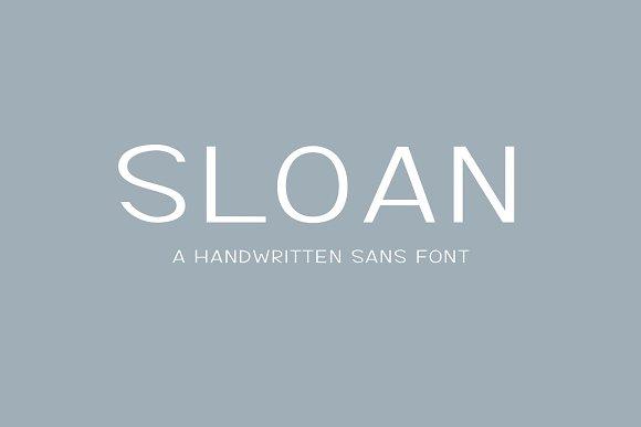 Sloan-5 fonts included in Sans-Serif Fonts