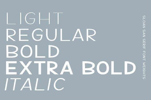 Sloan-5 fonts included in Sans-Serif Fonts - product preview 4