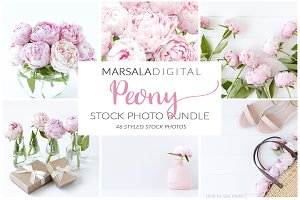 Peony Styled Stock Photo Bundle