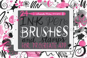 Procreate Ink Pen Brushes and Stamps
