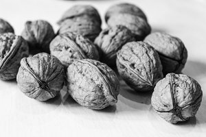 Walnut Background in Black and White