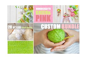 Custom bundle|handicrafts pink&green