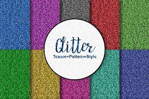 Glitter Style+pattern+texure