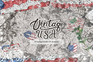 Vintage USA. America Backgrounds.